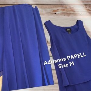 ADRIANNA PAPELL (2 pieces) Top & Skirt Blue ROYAL